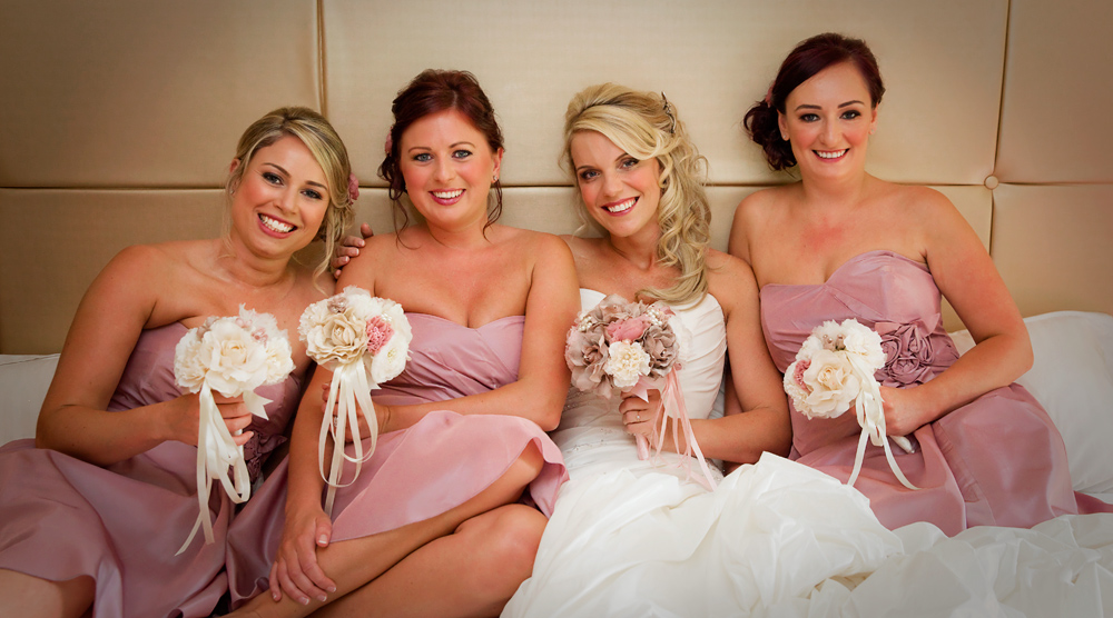 Bridal preparation at the Grosvenor Pulford Hotel & Spa
