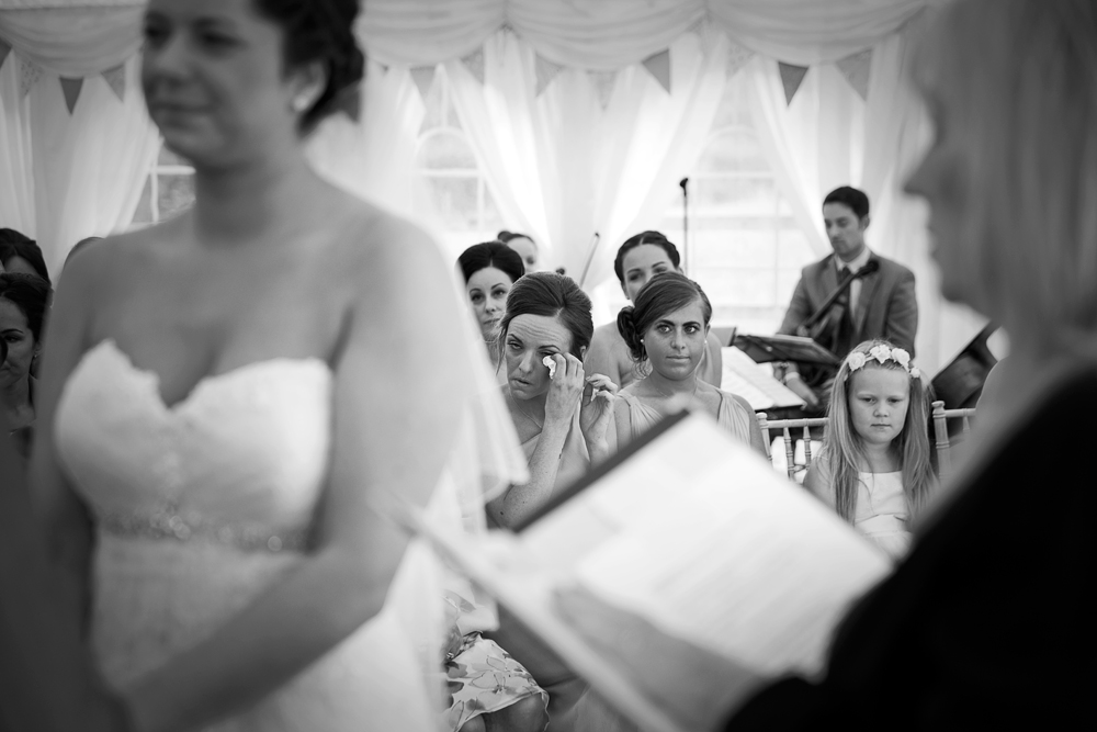 Bridesmaid cry
