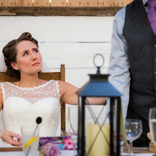 The speeches during a Wellbeing Farm Wedding