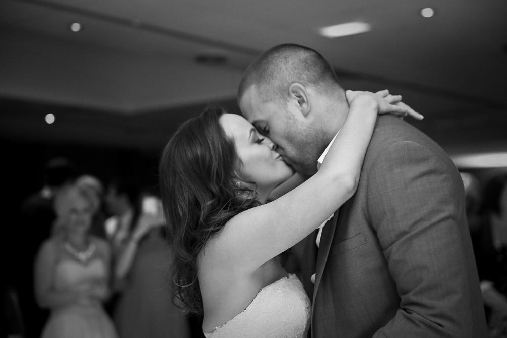 Wedding First Dance Kiss