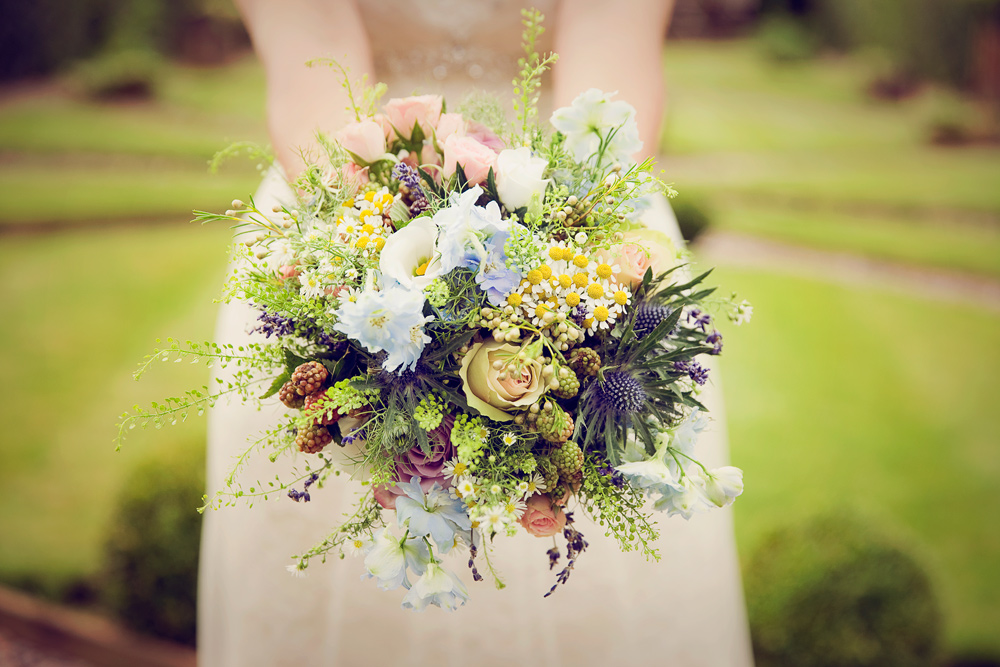 Wedding Bouquet Hilltop Country House Cheshire