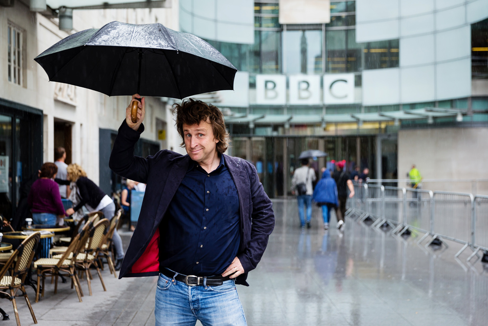 Milton Jones at BBC Radio in London