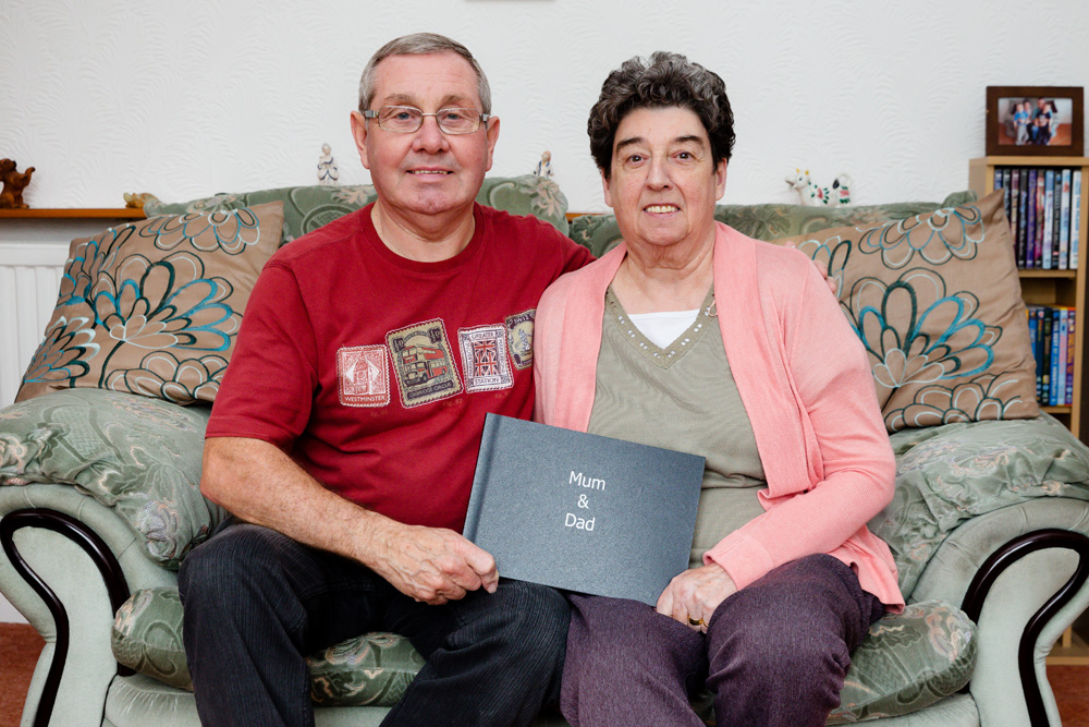 Mum & Dad with album