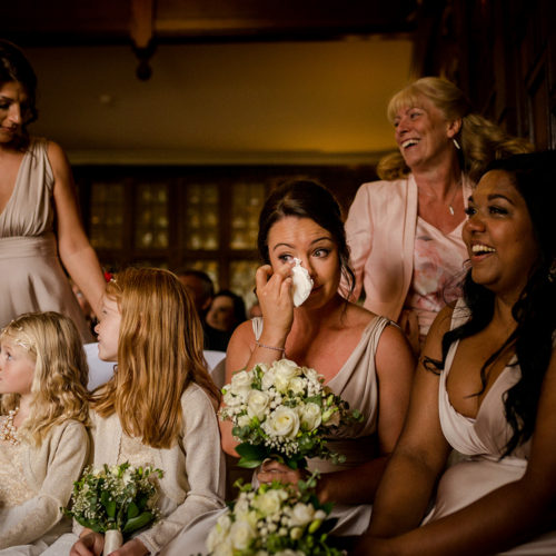 The bridal party during a Billesley Manor Hotel Wedding