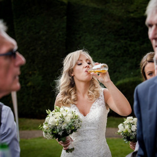 A nice refreshing post-wedding beer