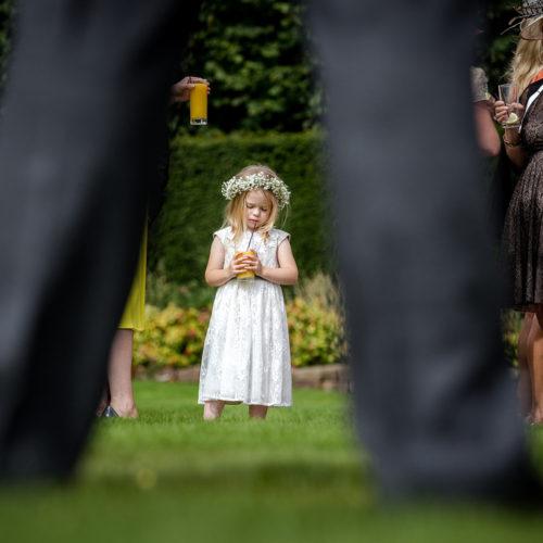 Flower Girl at Thornton Manor in Merseyside