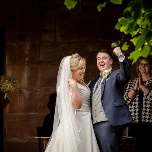Outdoor wedding ceremony in Merseyside