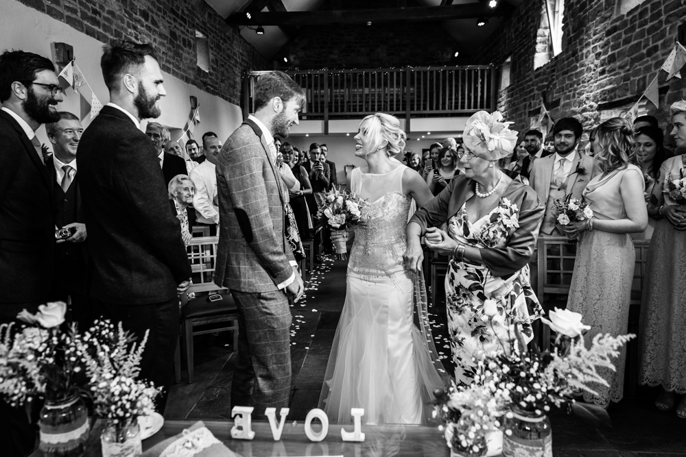 The Ashes Barns Wedding in Leek Staffordshire