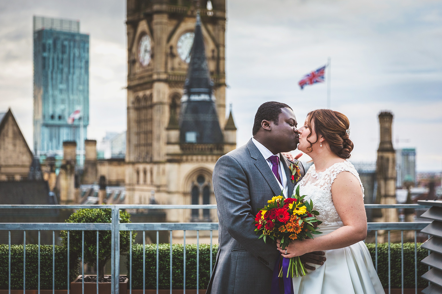 Sarah and Chris at the King Street Townhouse in Manchester