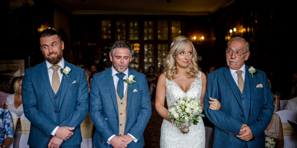 The ceremony during a Billesely Manor Hotel Wedding