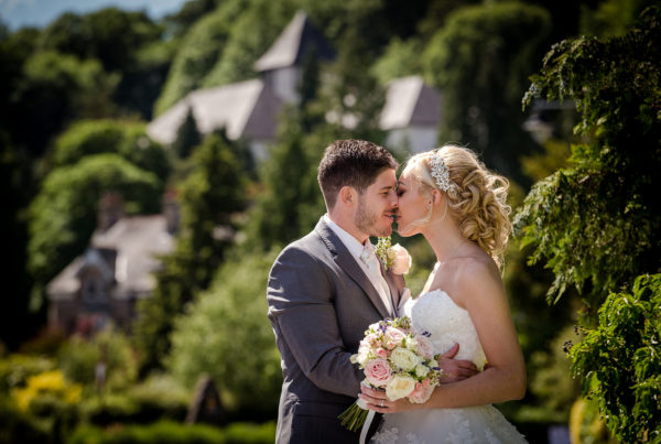 Michelle and Chris during their Lake District wedding at The Grange Hotel in Cumbria