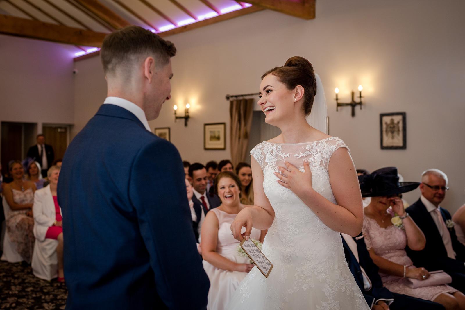 Gary and Bryony's wedding at the villa wrea green