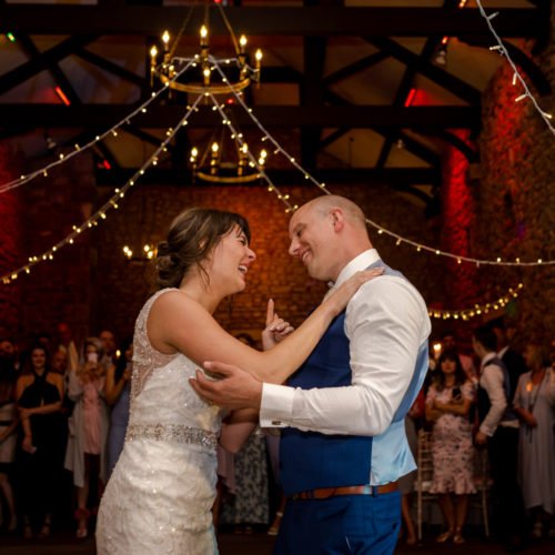 First dance at Browsholme Hall in Clitheroe