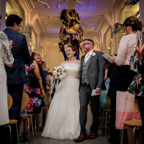 Married under the T-rex at Manchester Museum