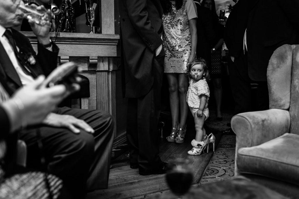 Flower girl during a statism lodge wedding