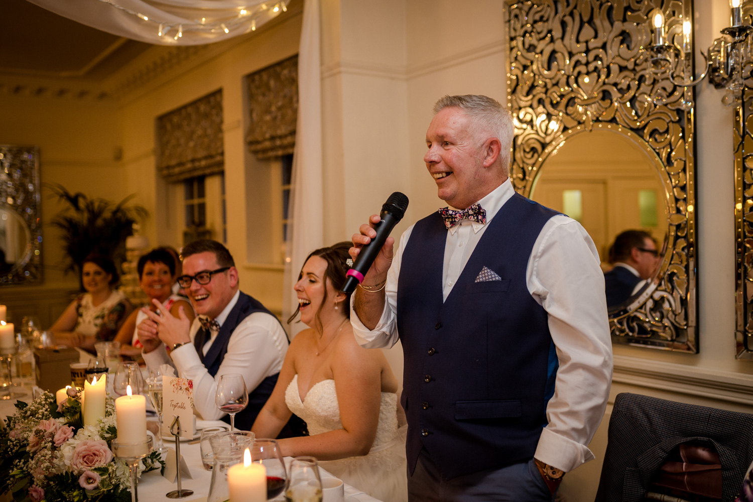 Wedding speeches at Eaves Hall