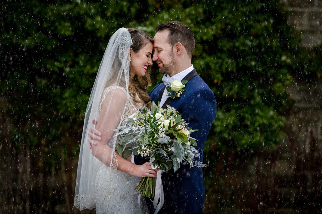 A snowy wedding at Stanley House in Clitheroe