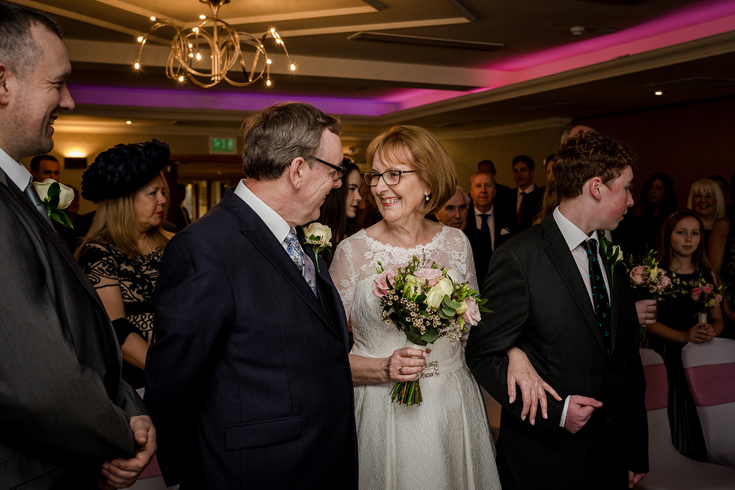 The bride and groom at Cottons Hotel & Spa in Knutsford