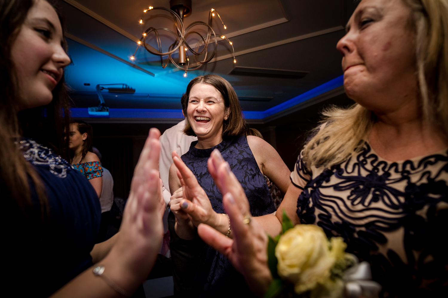 guest dancing at the cottons hotel wedding reception
