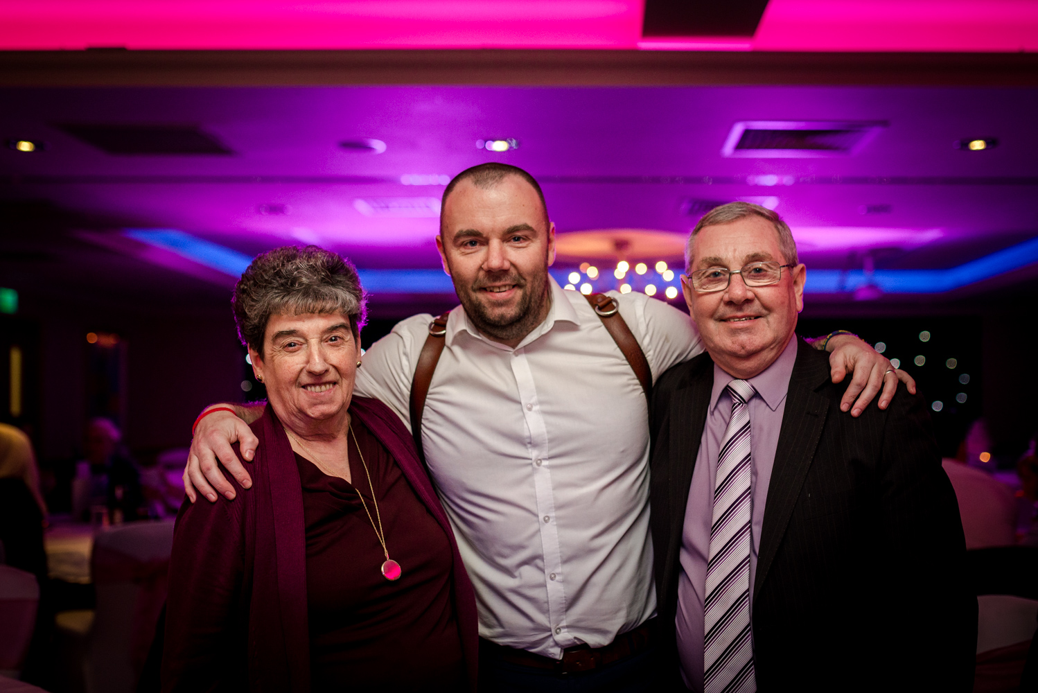 Steve with his mum and dad at the cottons hotel
