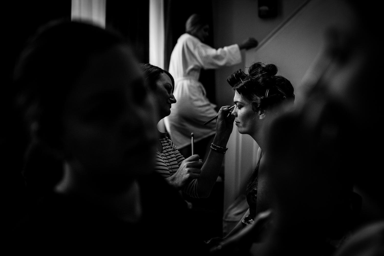 The bridal preparations at Great John Street Hotel