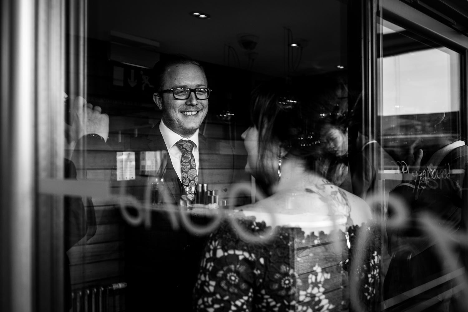 Wedding guests at great John street hotel