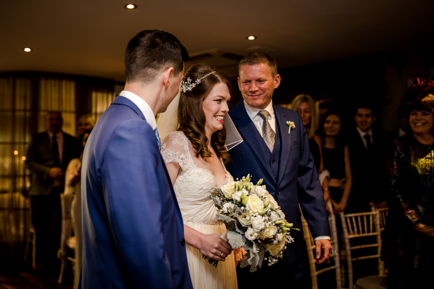 The wedding ceremony at Great John Street Hotel