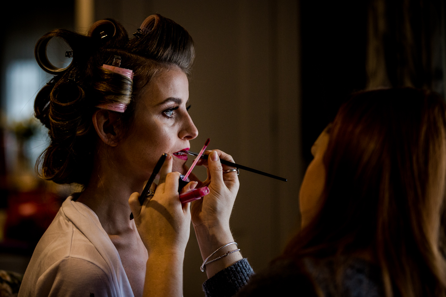 Jodie A Smith applied make up to the bride at Stanley House in Clitheroe
