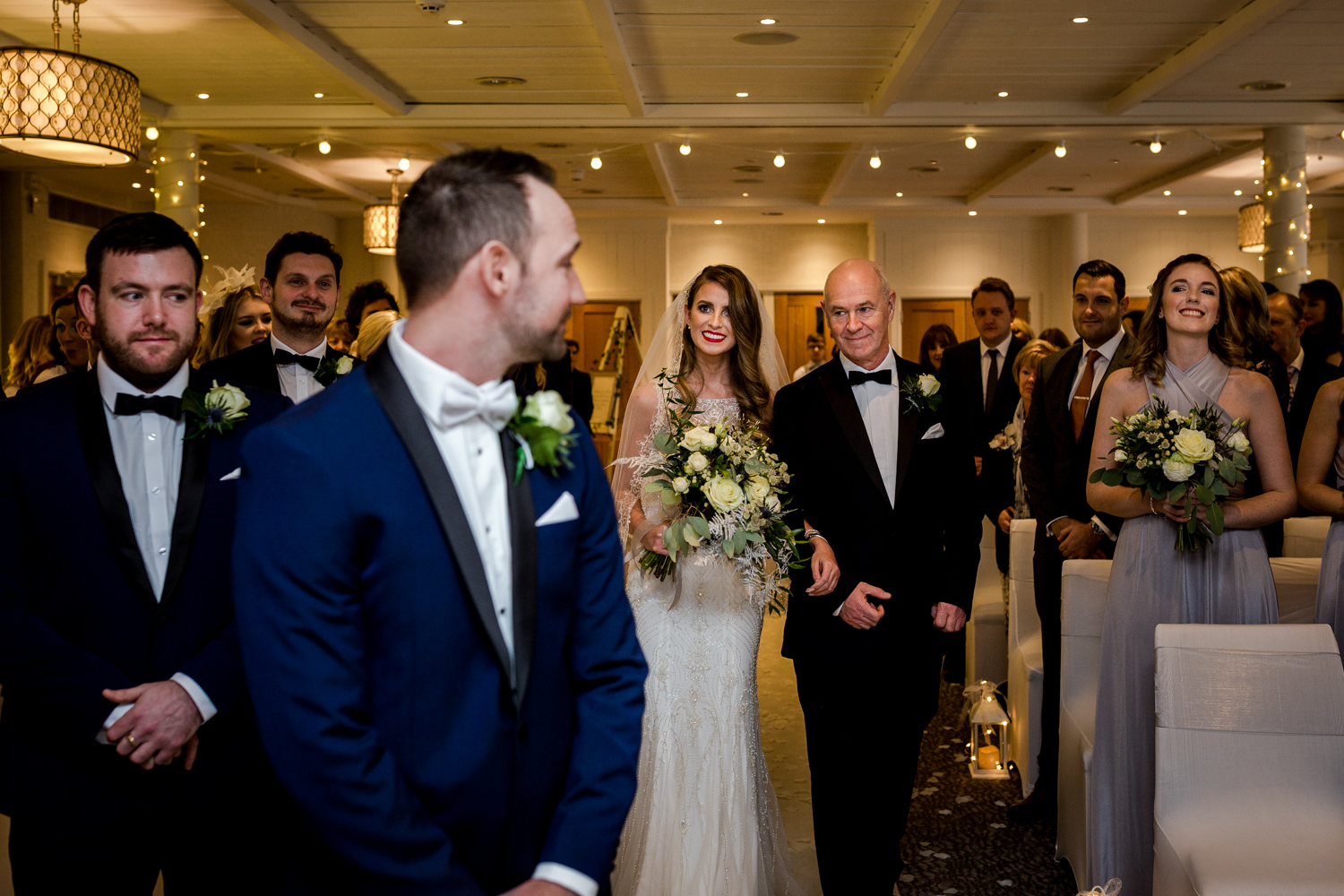 The bride and groom at Stanley House Hotel in Clitheroe