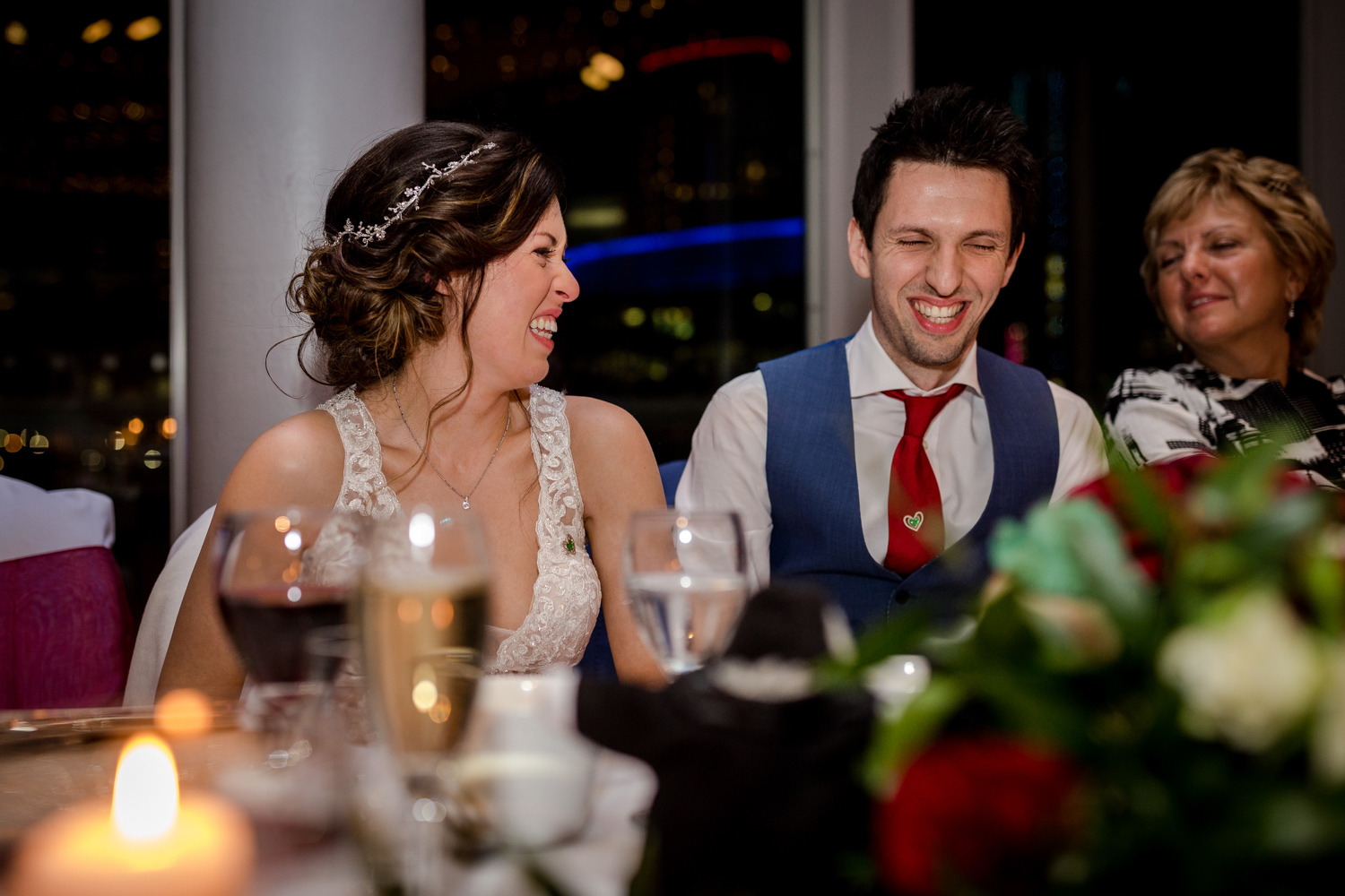 Wedding speeches at the Lowry