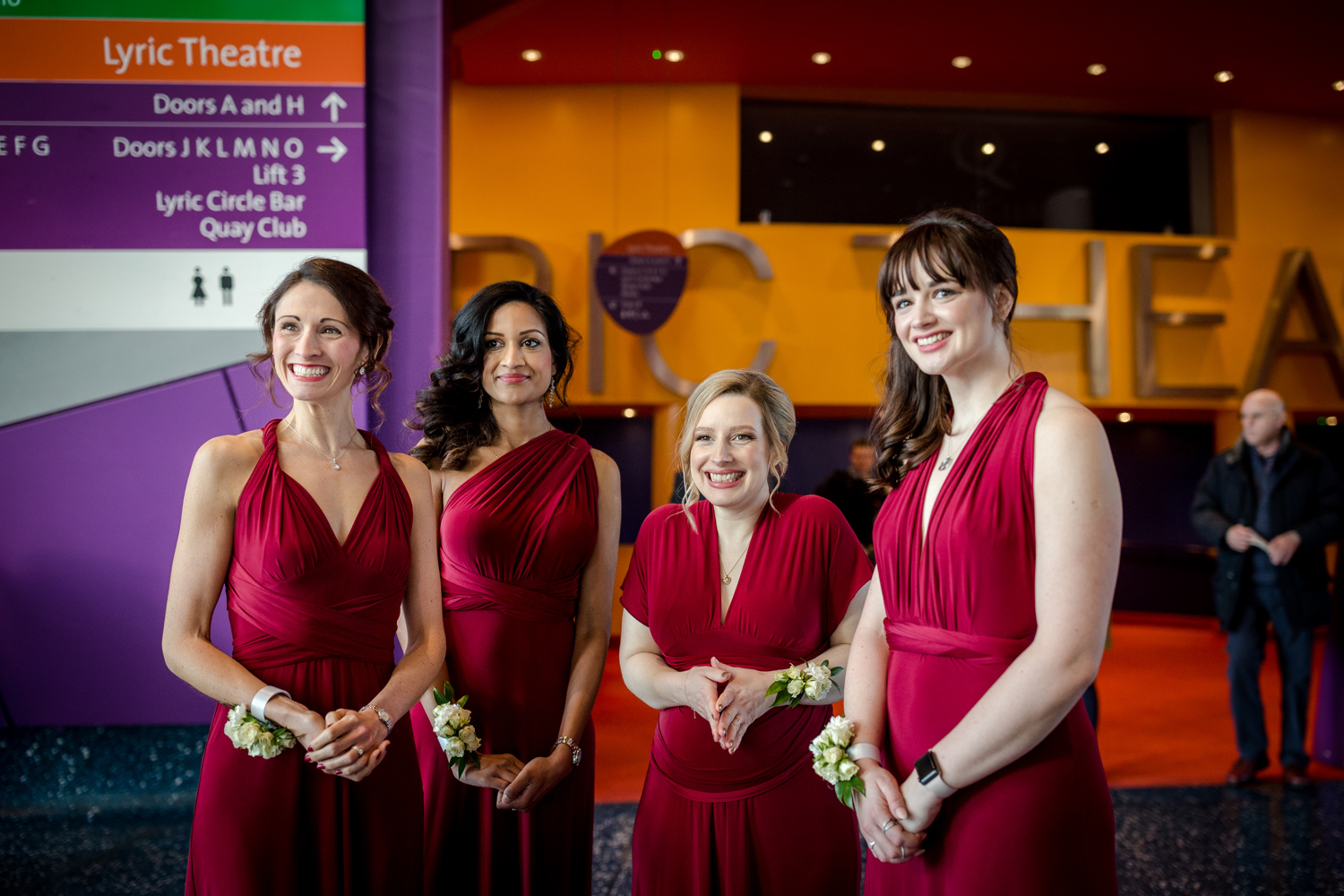Bridesmaids at the Lowry