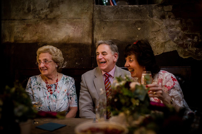 Wedding guests at a Holmes Mill Wedding