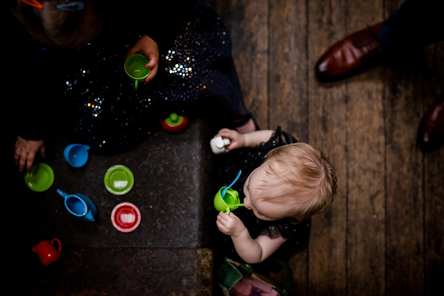Children playing during a Holmes Mill Wedding