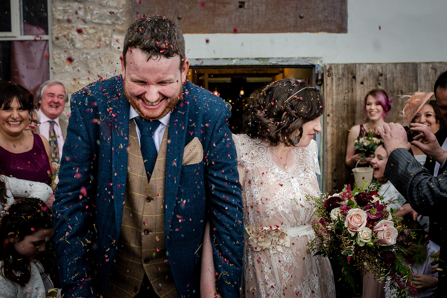 Confetti time at Holmes Mill