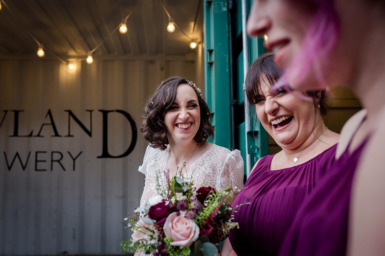 A Holmes Mill Wedding Bride