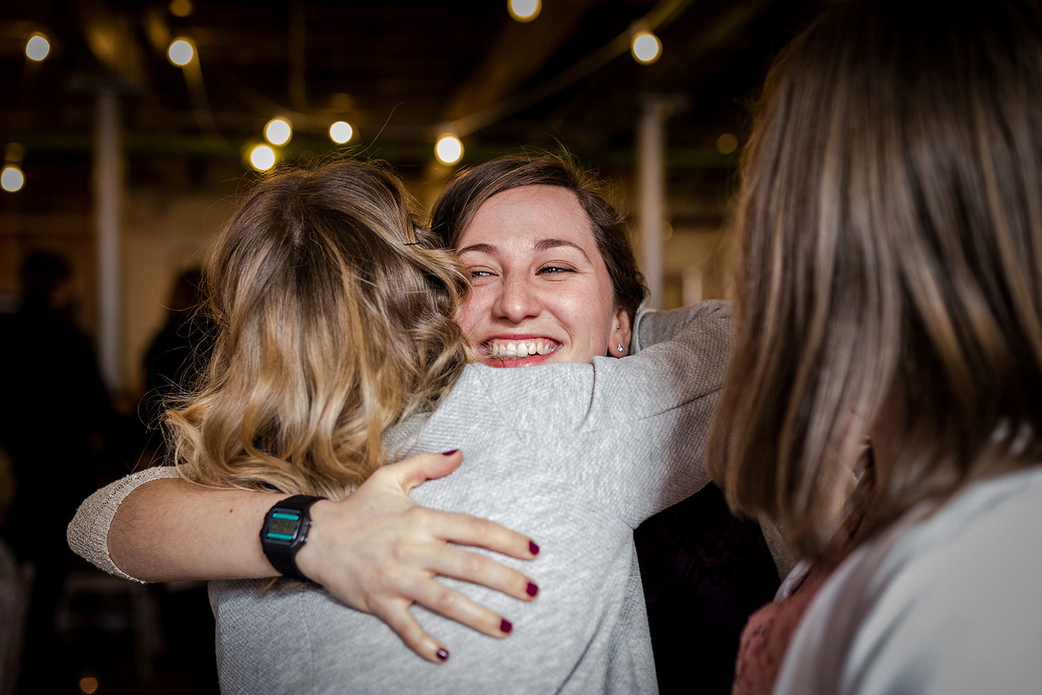 Guest hugging at Holmes mill in Clitheroe