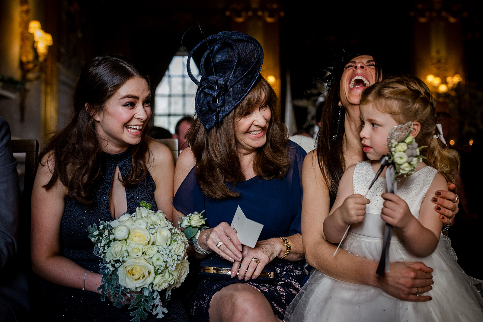 Mother of the bride during a Knowsley Hall Wedding