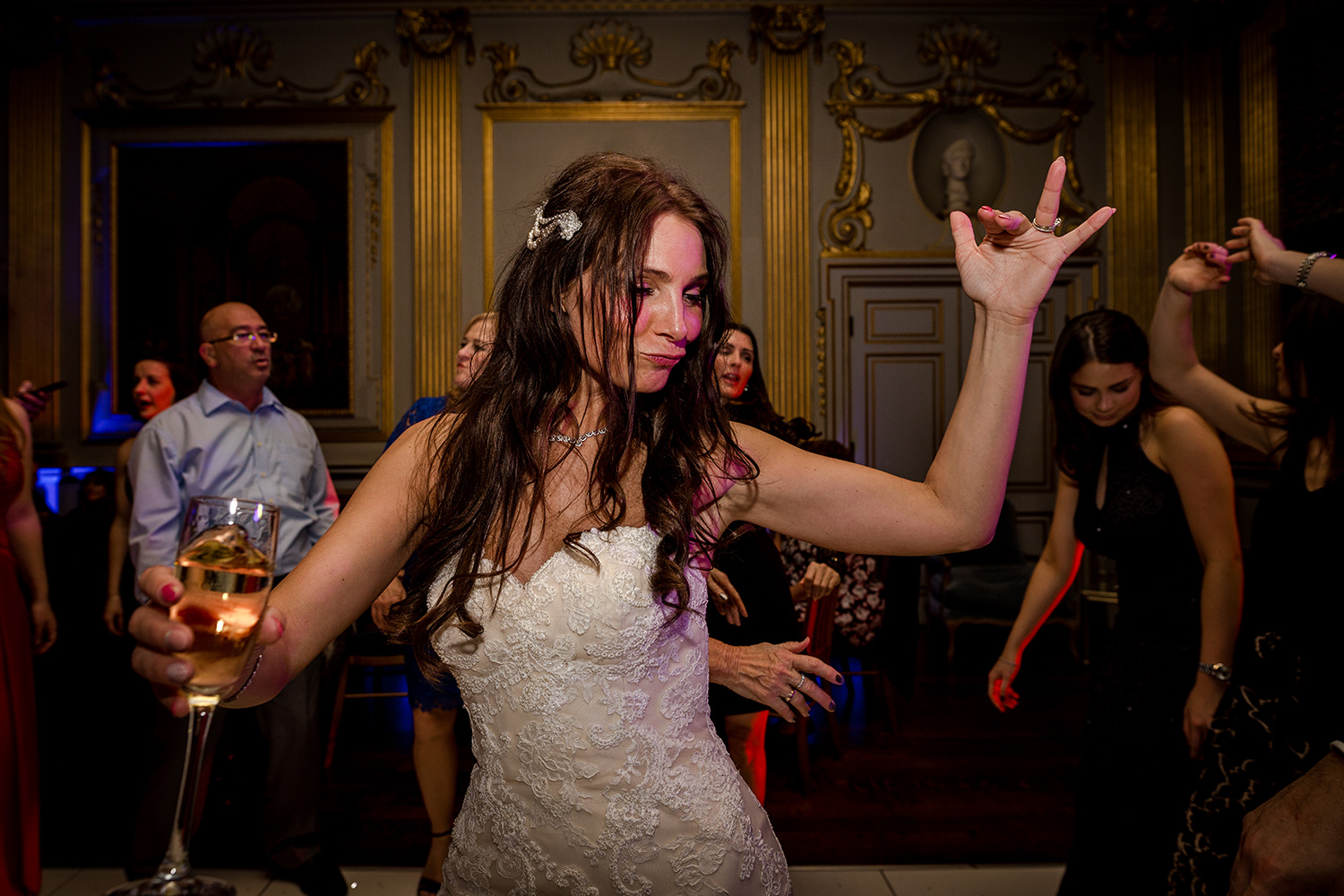 Bride on the dance floor at Knowsley Hall