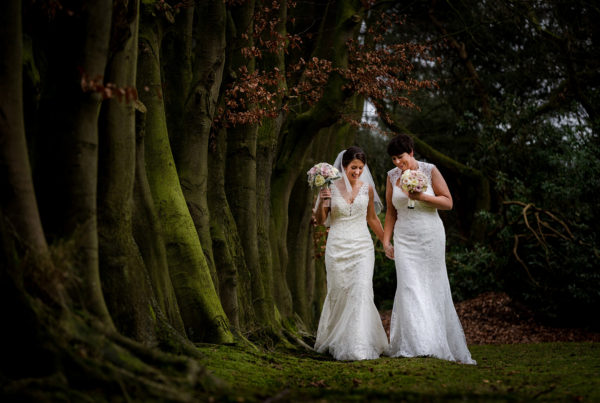 Kathryn & Siobhan at Nunsmere Hall in Cheshire