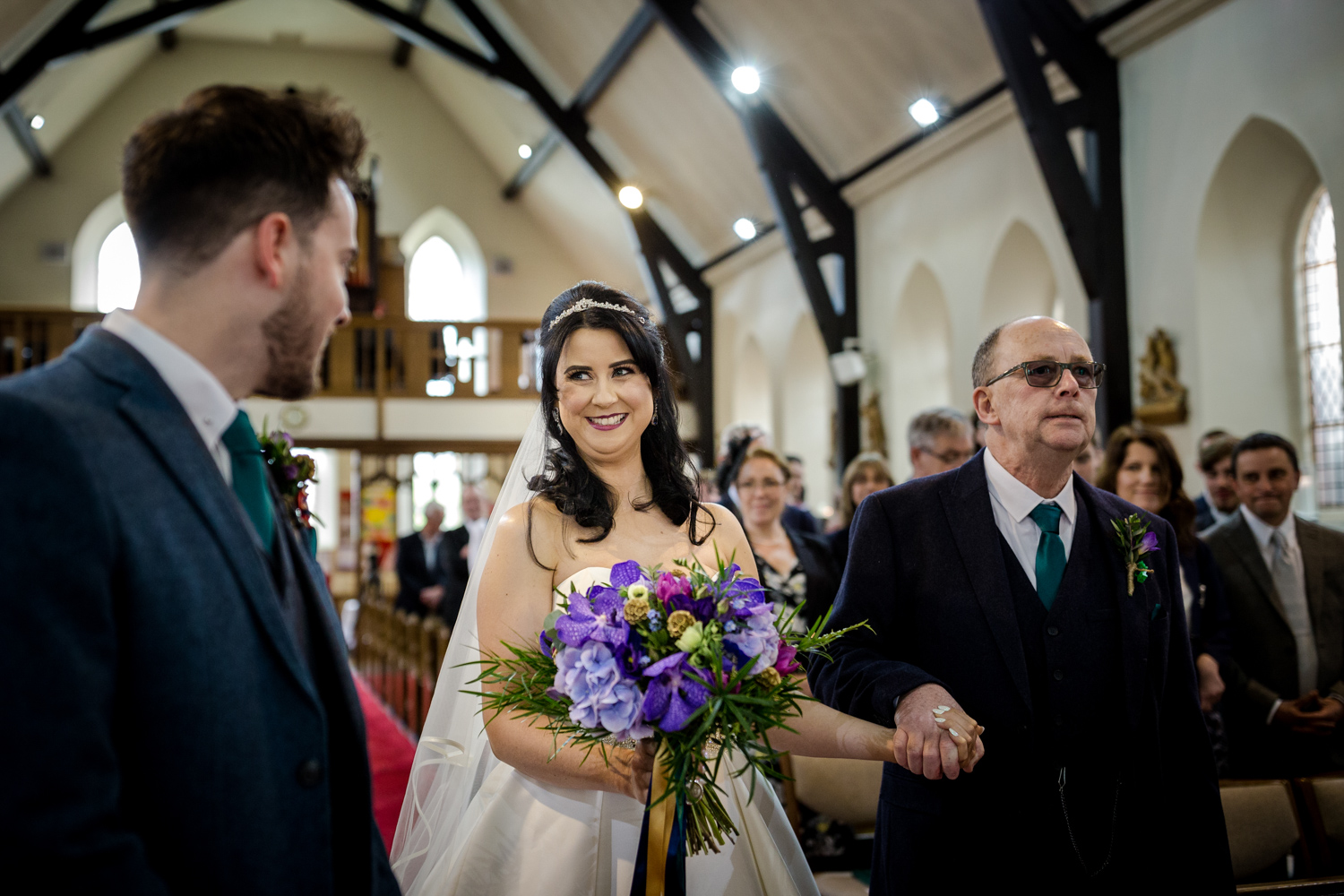 The bride sees her husband for the first time