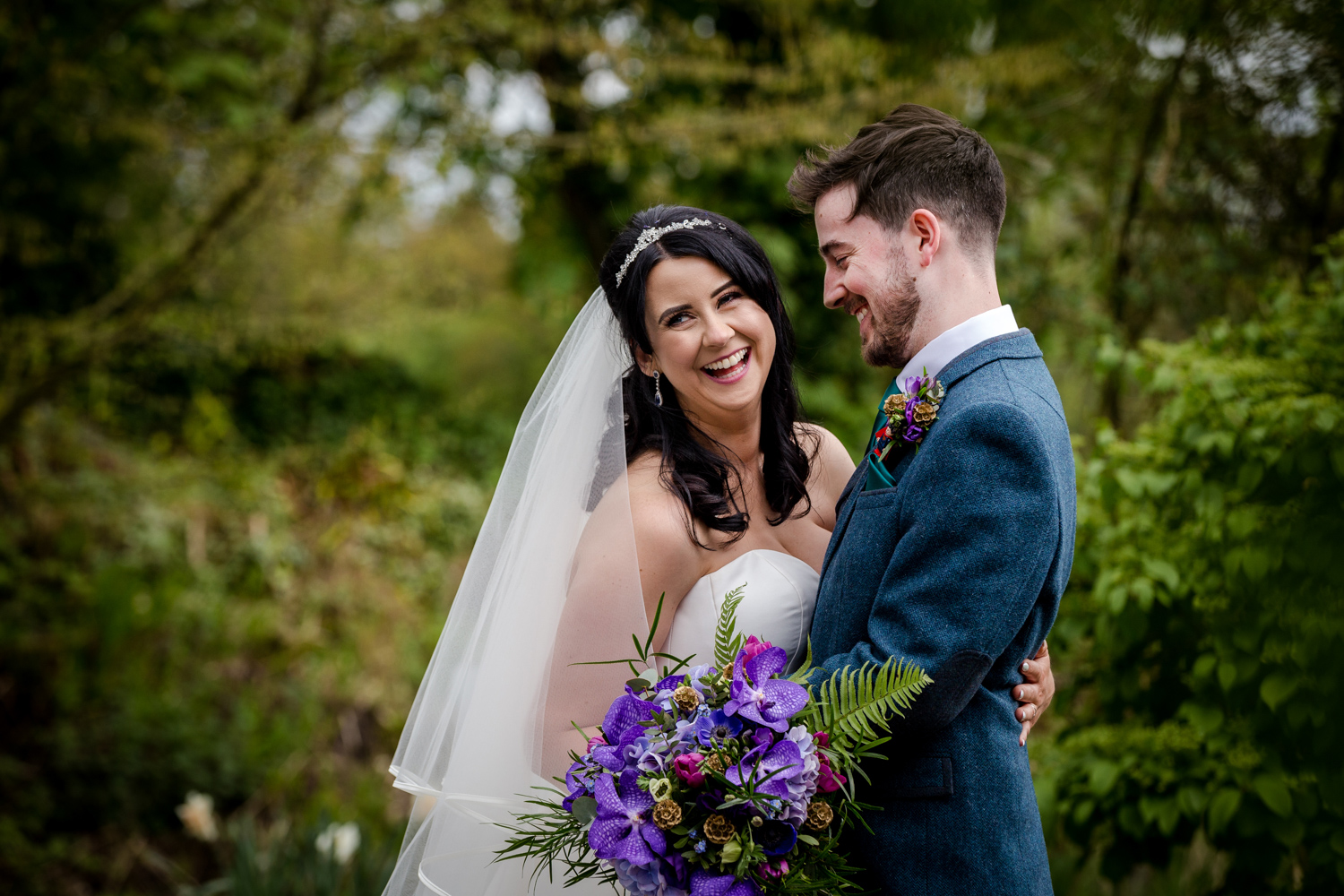 Bride and Groom during their Oak Tree Peover Wedding