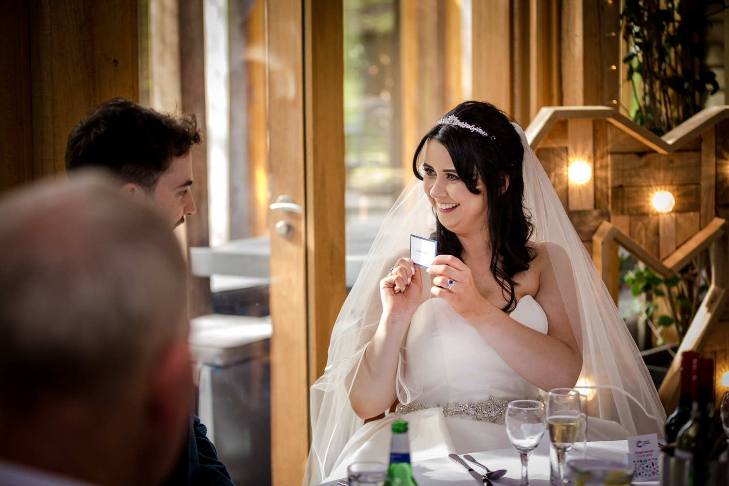 The bride during her Oak Tree Peover Wedding