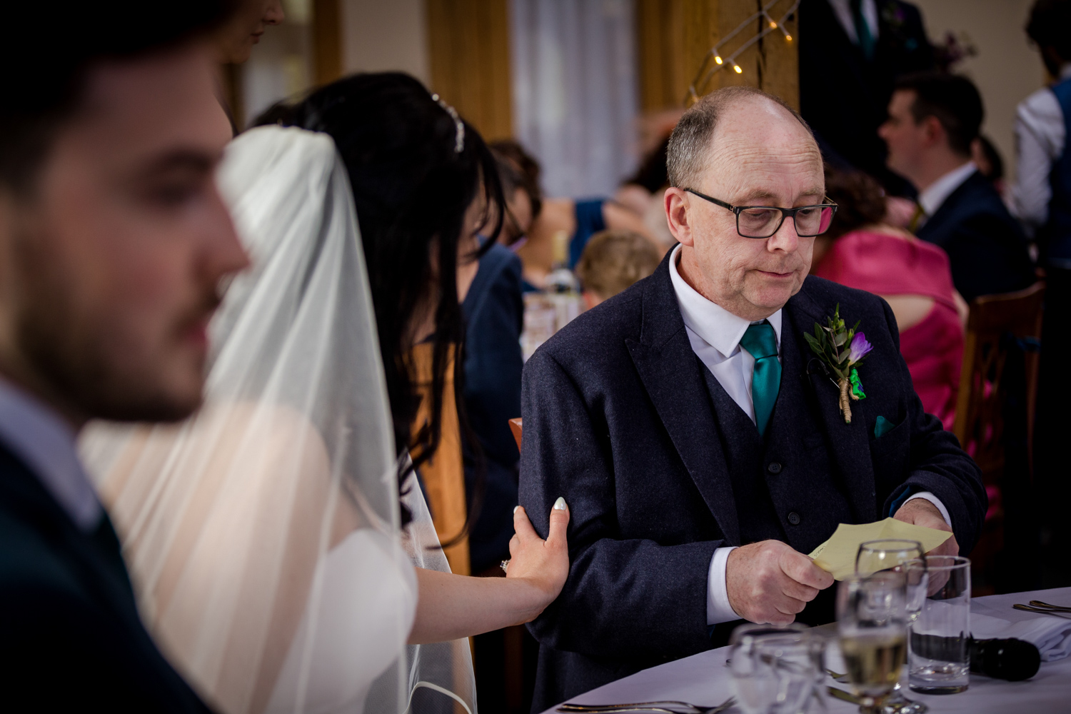 Wedding speeches at the Oak Tree of Peover in Cheshire