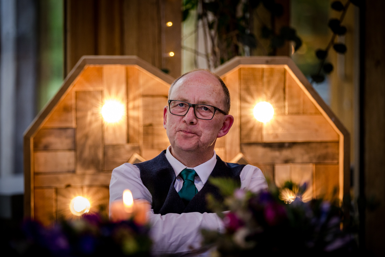 Father of the bride at the Oak Tree of Peover