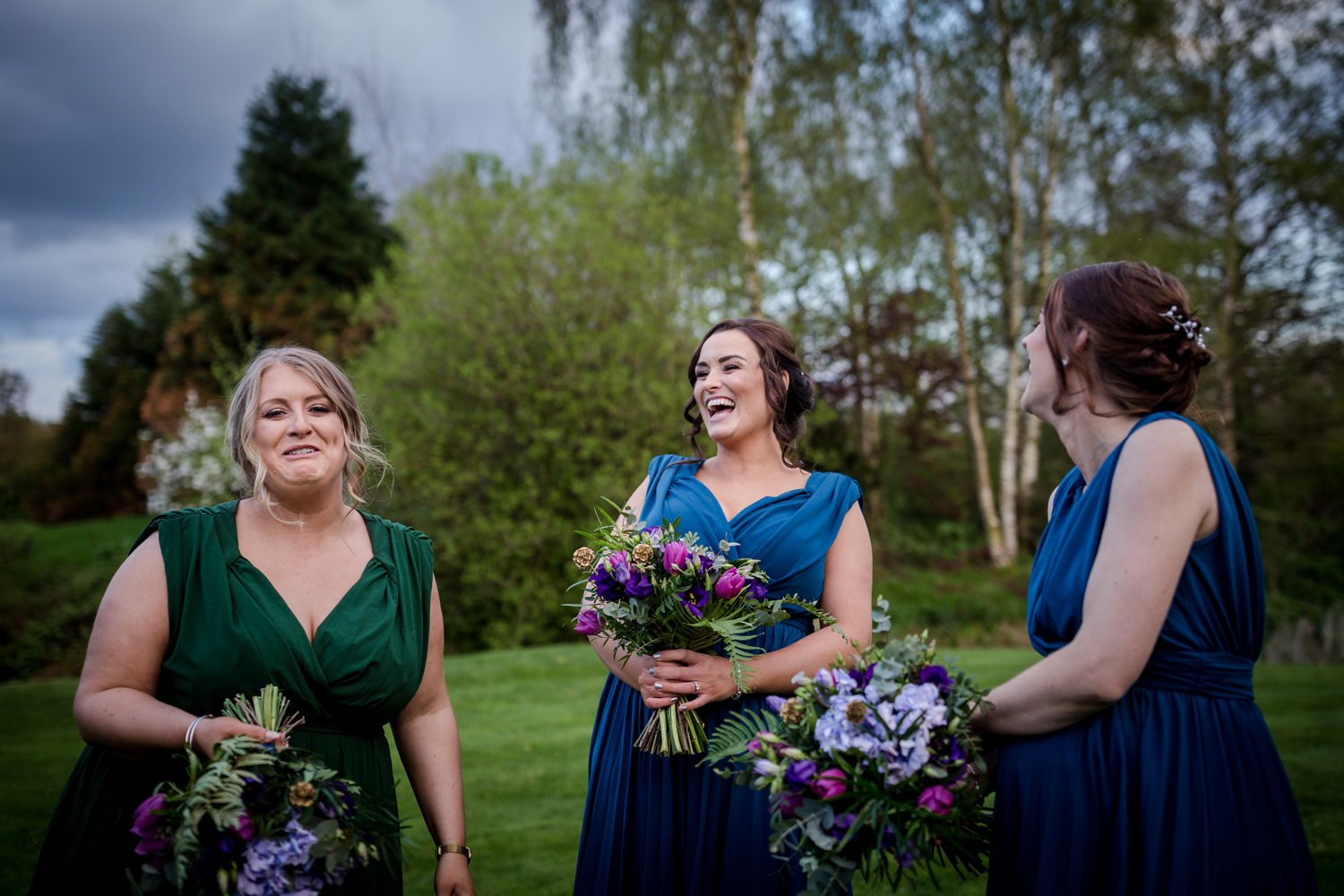 Bridesmaids during an Oak Tree Peover Wedding