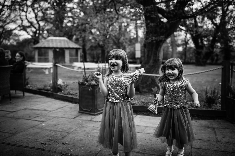 Flower Girls during an Oak Tree Peover Wedding