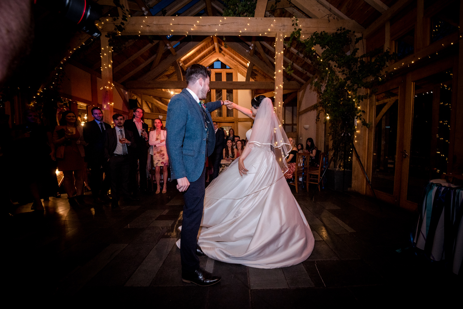 First dance time during an Oak Tree of Peover Wedding in Cheshire