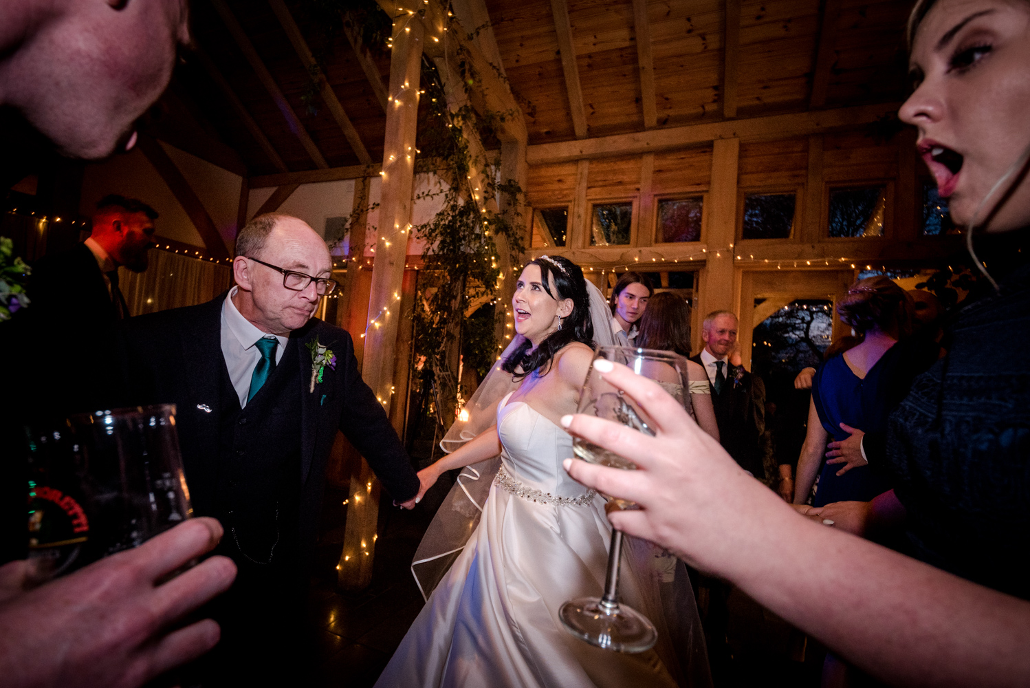 Wedding Reception during an Oak Tree of Peover Wedding in Cheshire