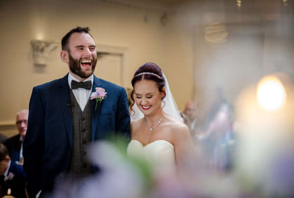 The Bride and Groom during their Ashfield House Wedding