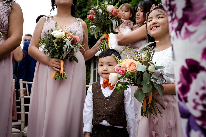 Flower girls during a Cheshire Wedding